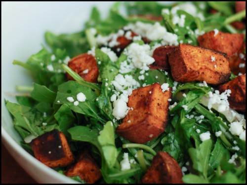 Arugula Salad with Sweet Potatoes Recipe